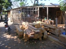 Wood shop in Dili
