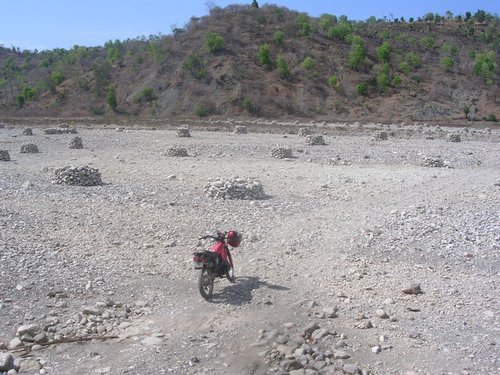 dry riverbed in Oecussi