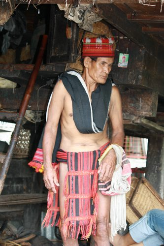 Ifagao man wearing traditional clothing
