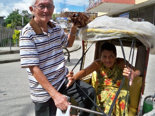 Tricycle ride in Catbalogan