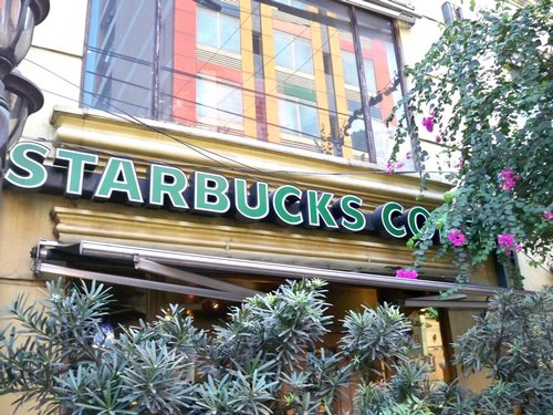 Starbucks at Mabini Pensionne across the street