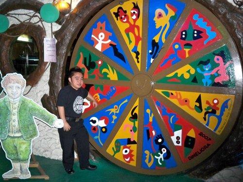 circlular shaped door hobbit house manila
