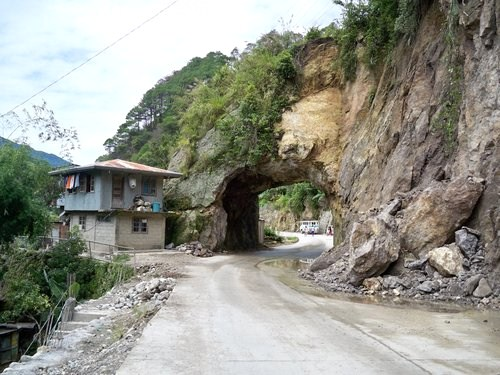 Highway tunnel near Sagada