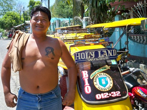proud filipino tricycle driver