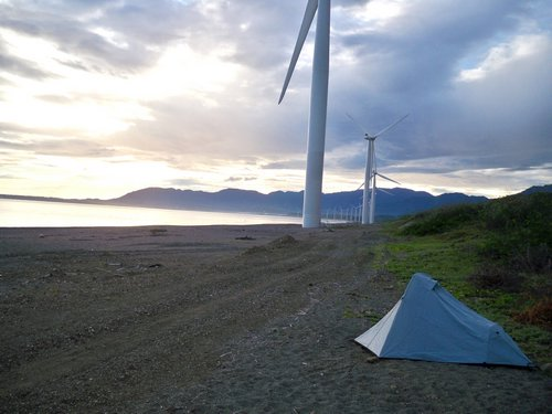 Philippine windmill on the beach