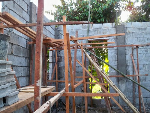 concrete block construction