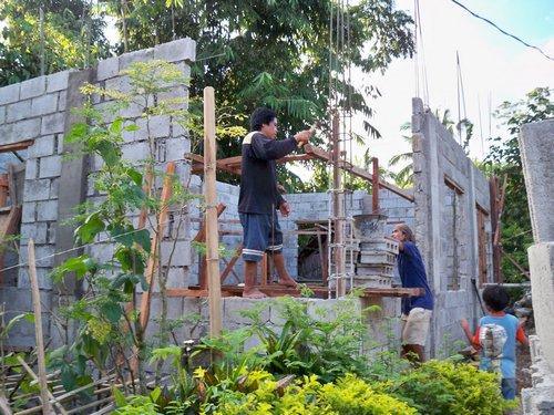 building with concrete block