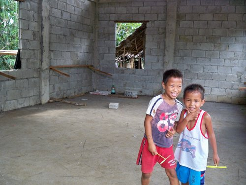 concrete floor in house in the Philippines