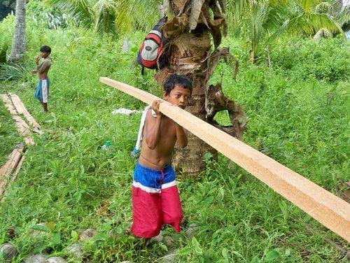 hauling lumber