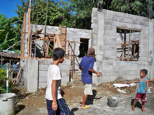Building a Concrete Block House – part 2 | Philippines