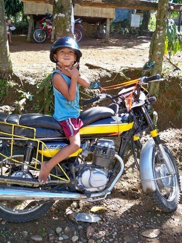 kid on motorcycle