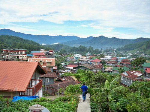 View from the Sagada Homestay