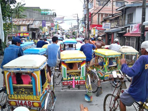 Catbalogan tricycle traffic jam