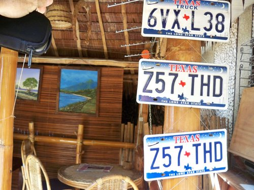License plates from Texas