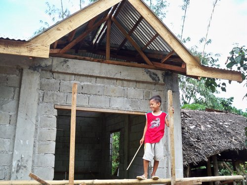 Building a concrete block house part 7 philippines for House roof design philippines