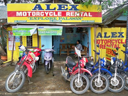 Puerto Princesa Motorcycle rental shop