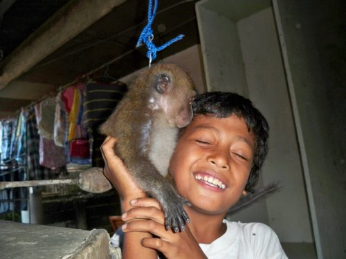 Ian with monkey