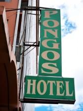 Pongos Hotel sign Ormoc Philippines