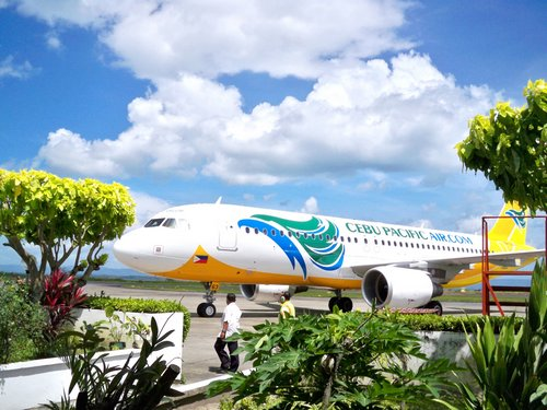 Cebu Pacific Airlines at the Tacloban terminal