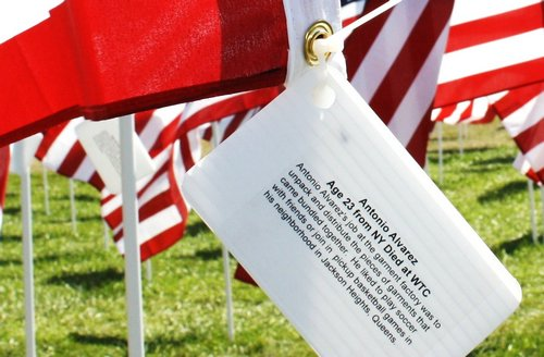 flag representing one of those that perished