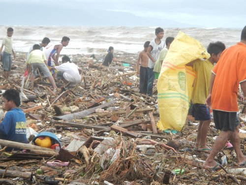 Sendong Washi Dumaguete debris