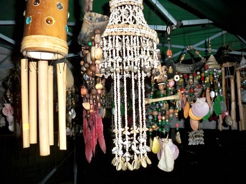 windchimes for sale at the Sinulog festival
