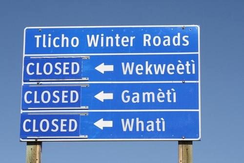 closed winter roads