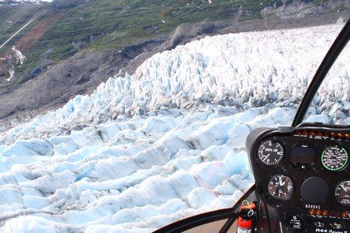 blue ice in glacier