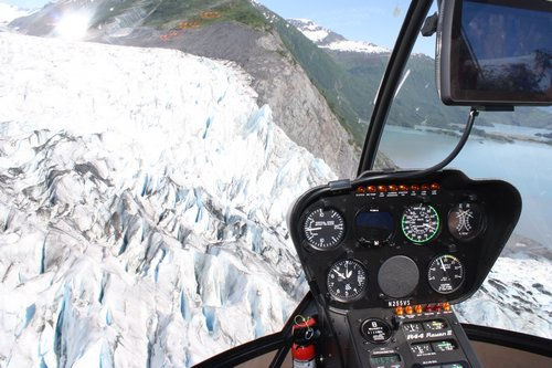glacier view from above